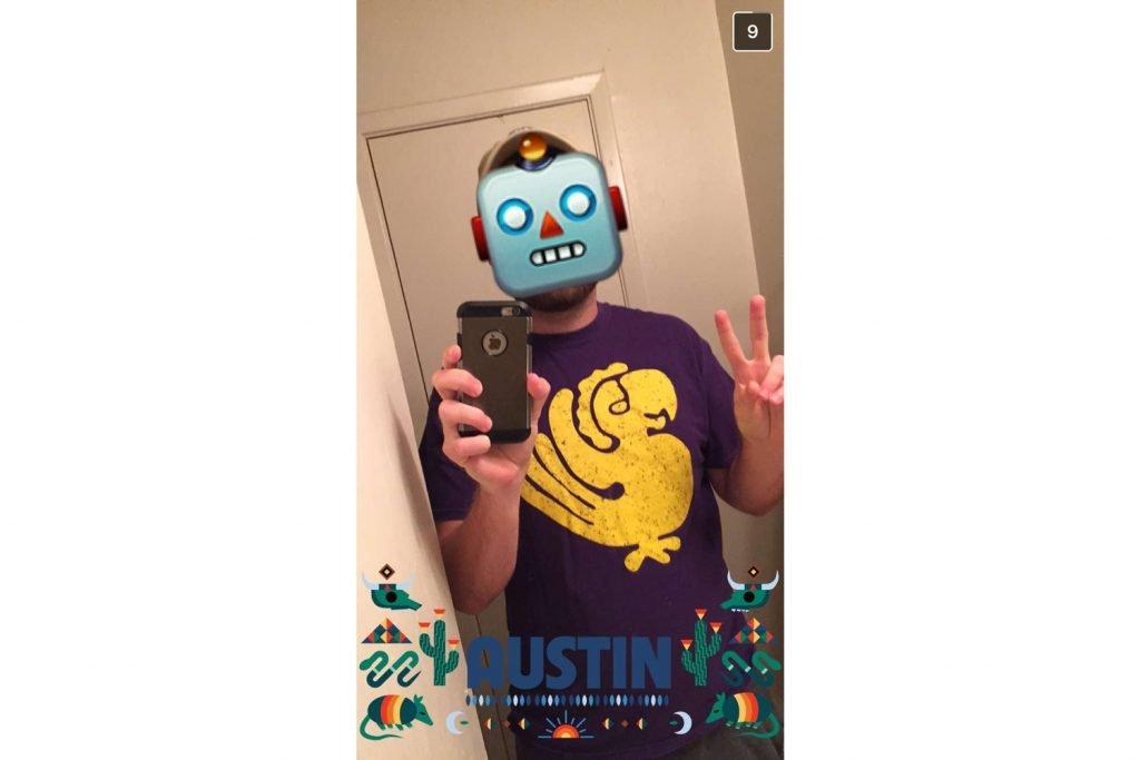 Snapchat courtesy of Brendan Bures