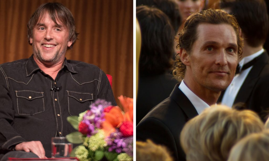 Photos: Linklater by Flickr user LBJ Library, Mcconaughey by Flickr user David Torcivia